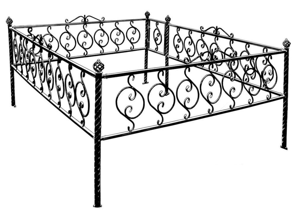 Оградки на могилу из профильной трубы своими руками