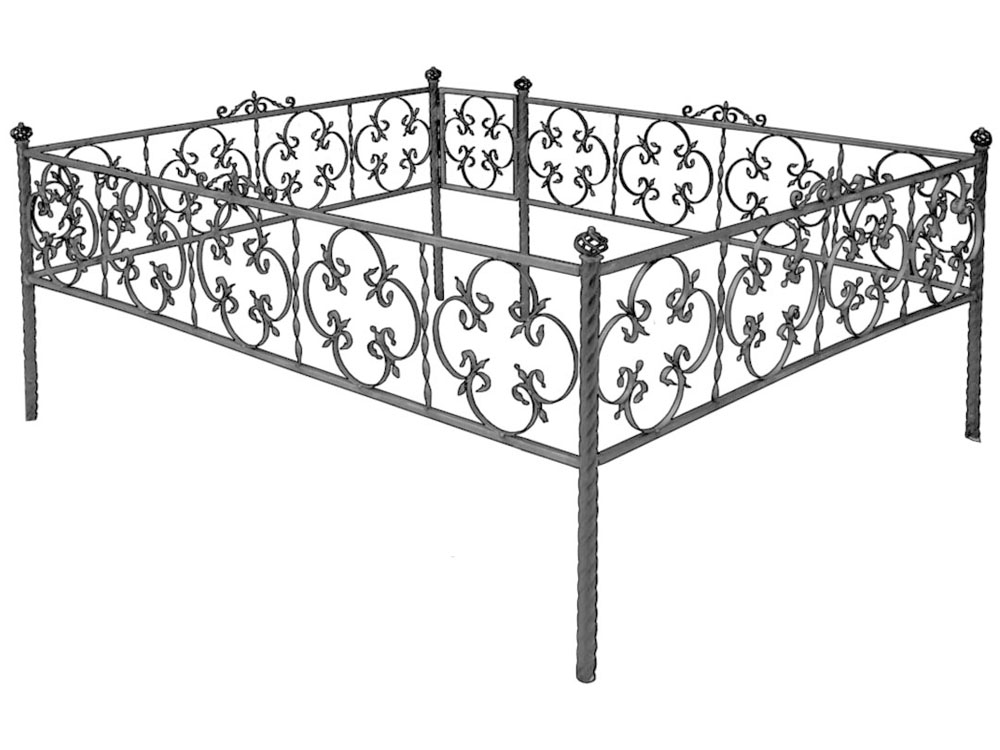 Ограда на могилу размеры стандартные
